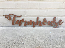 Load image into Gallery viewer, Custom Metal Script Words-Home Goods-Diamond in the rough-Gift, HomeGoods, Metal-Rusted-Farmhouse-The Twisted Chandelier