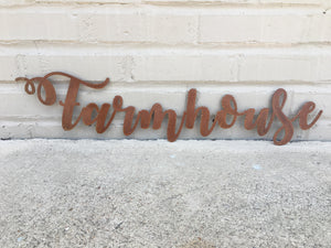 Custom Metal Script Words-Home Goods-Diamond in the rough-Gift, HomeGoods, Metal-Rusted-Farmhouse-The Twisted Chandelier