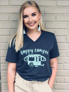 Happy Camper V-Neck Tee