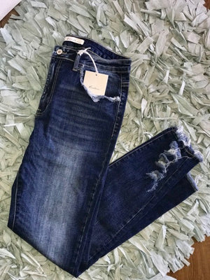 Kancan Frayed Skinnies