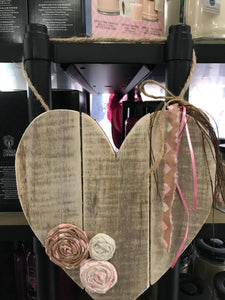 Wooden Heart-Home Goods-Crazy Crafty Ladies-#shopTTC, Heart, HomeGoods, NewArrival-The Twisted Chandelier