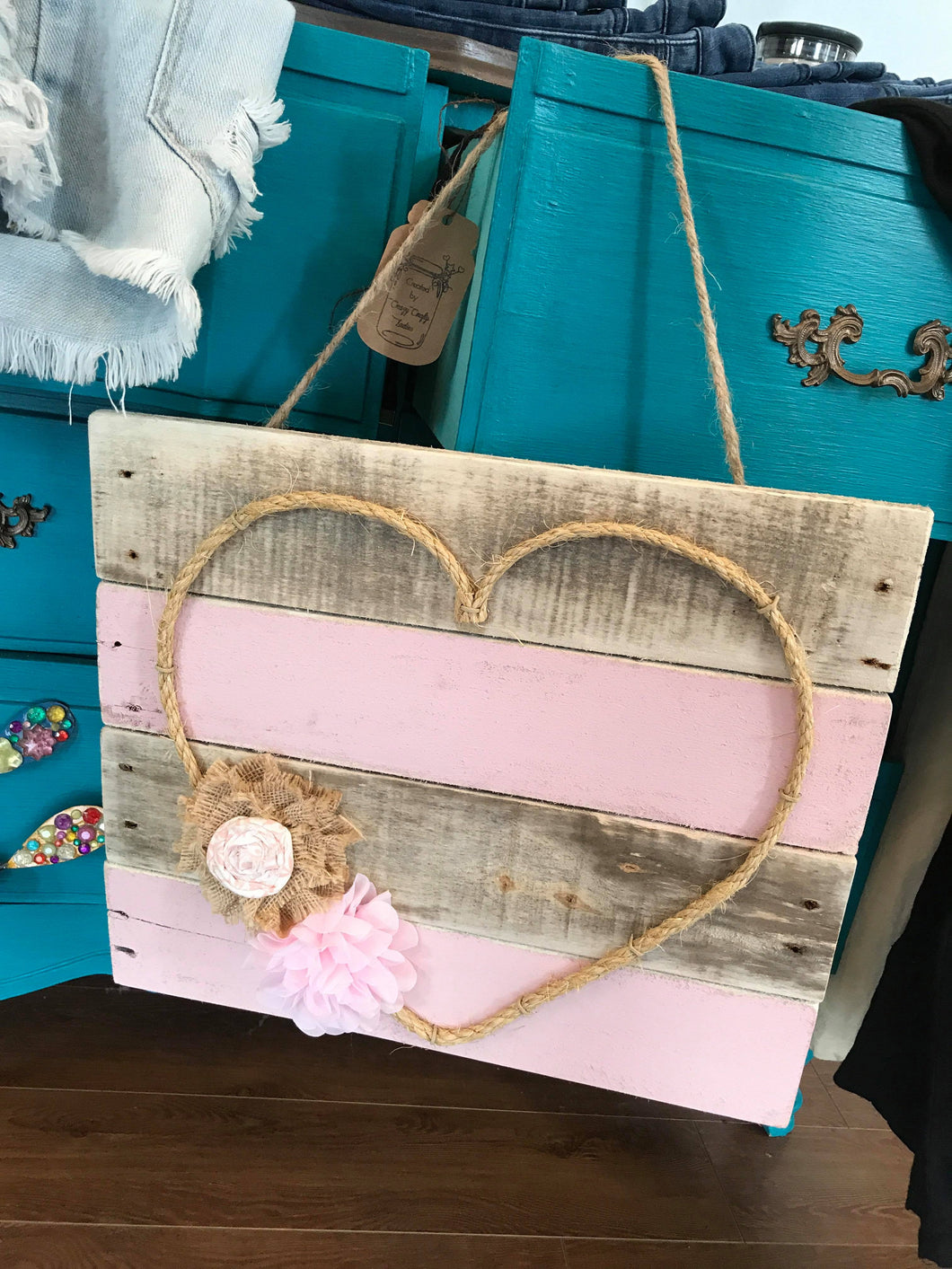 Roped My heart-Home Goods-Crazy Crafty Ladies-decor, Heart, NewArrival, sign-The Twisted Chandelier