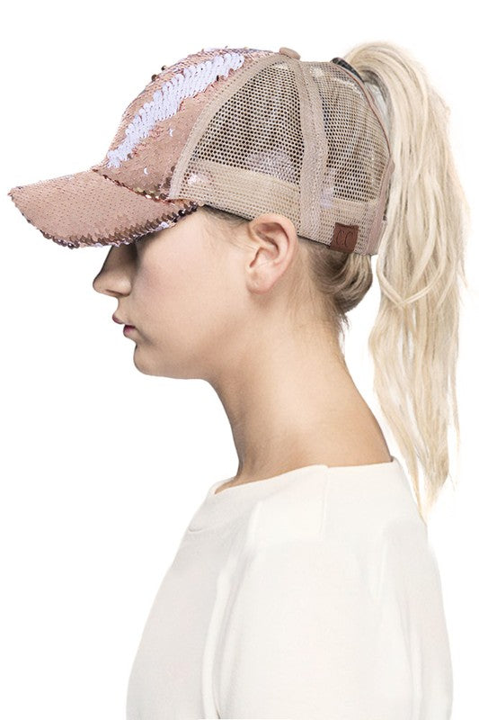 CC Twisted Sequence Ponytail Baseball Cap