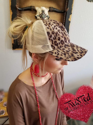 CC Cheetah Pony Cap