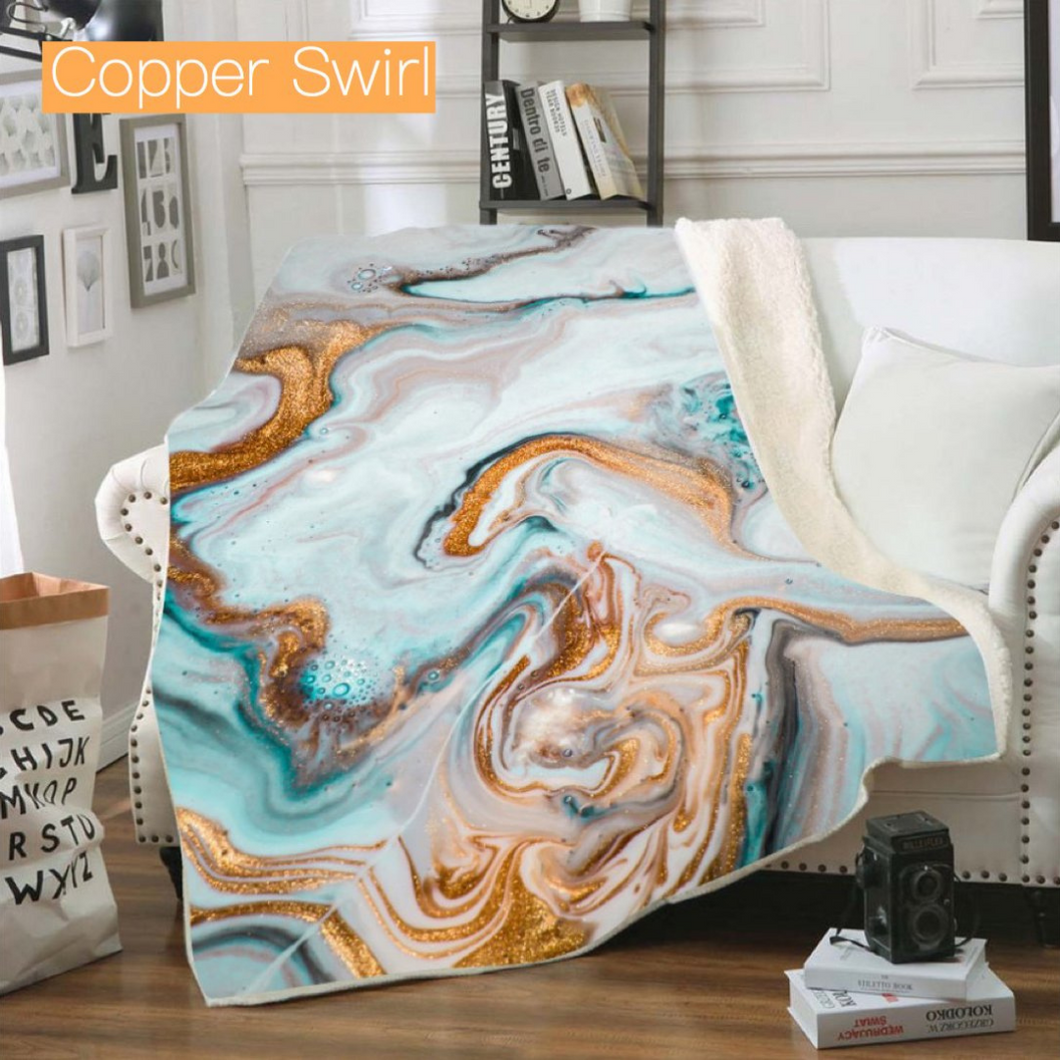 Ultra Plush Geode Blanket-Beauty Stash-DOORBUSTER, NOV2020, November 2020, November2020-Copper Swirl-The Twisted Chandelier