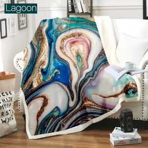 Ultra Plush Geode Blanket-Beauty Stash-DOORBUSTER, NOV2020, November 2020, November2020-Lagoon-The Twisted Chandelier