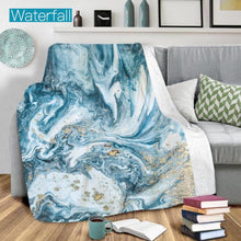 Load image into Gallery viewer, Ultra Plush Geode Blanket-Beauty Stash-DOORBUSTER, NOV2020, November 2020, November2020-Waterfall-The Twisted Chandelier