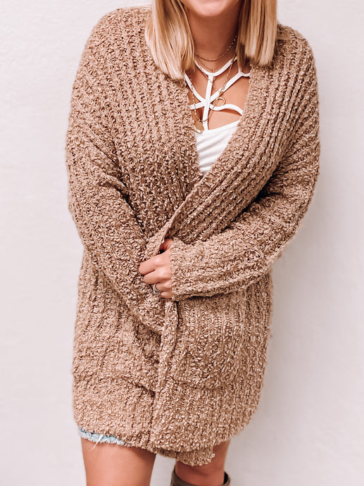 NEW Popcorn Cardigan (Taupe)-Sweaterland-november2020-The Twisted Chandelier