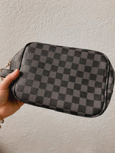Load image into Gallery viewer, Queen B Checkered Makeup Bags-Babe Wholesale Co.-Accessories, Checker, Checkered, DOORBUSTER, Louis, LV, MakeUp, Makeup Bag, NOV2020, November 2020, November2020, Vuitton-The Twisted Chandelier