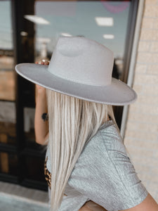 Luna Grey Boho Brim Hat-The Twisted Chandelier--The Twisted Chandelier