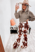 Load image into Gallery viewer, Roxy Cowhide Bell Bottoms-Bell Bottoms-L & B-bell, bell bottoms, bells, cow, cow print, Cowgirl, Cowhide, high waist, high waisted, november2020-The Twisted Chandelier