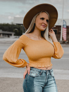 Lilly Crop Top-Nash Grey Wholesale--The Twisted Chandelier