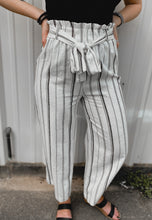 Load image into Gallery viewer, Boss Babe Striped Pants (White)-The Twisted Chandelier--The Twisted Chandelier