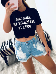 My Soulmate Is A Dog - Black-The Twisted Chandelier-babe tee, cheetah tee, crop tee-The Twisted Chandelier