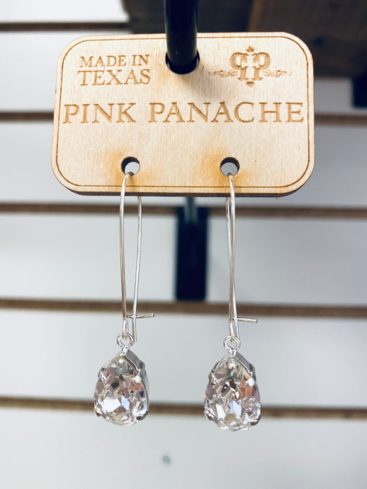 Mini Crystal Earrings -N368BAB Pink Panache Earrings-The Twisted Chandelier--The Twisted Chandelier