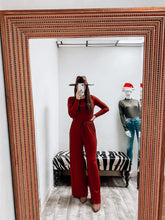 Load image into Gallery viewer, Ashtynn Jumpsuit (Rust)-Tunic-Zenana-nova turtle neck, november2020, tunic-The Twisted Chandelier