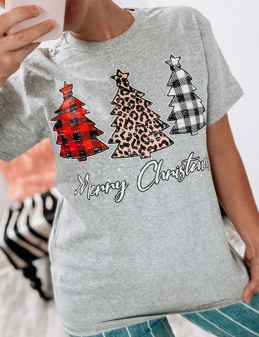 Merry Christmas Trees T-Shirt-T-Shirt-Davenport-Christmas tee, november2020, t-shirt-The Twisted Chandelier