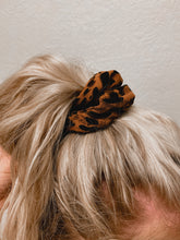 Load image into Gallery viewer, Burnt Orange Leopard Scrunchie-The Twisted Chandelier--The Twisted Chandelier