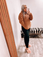 Load image into Gallery viewer, Sherpa Pullover - DEEP CAMEL-Sherpa-ZENANA-blackfriday, DOORBUSTER, november2020, pink Friday, Sherpa, Sherpa sale-The Twisted Chandelier