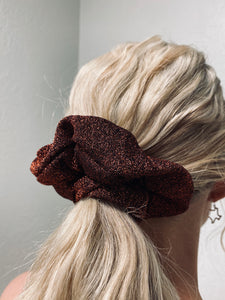 Glitter Bronze Scrunchie-The Twisted Chandelier--The Twisted Chandelier
