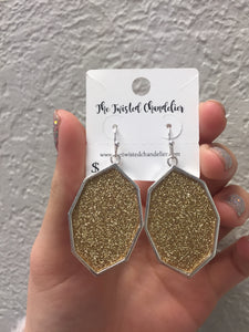 Glitter Kite Earrings -e270-The Twisted Chandelier--The Twisted Chandelier