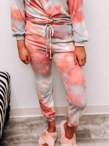 """Let's Get Cozy"" Tie Dye Sweatpants-The Twisted Chandelier--The Twisted Chandelier"