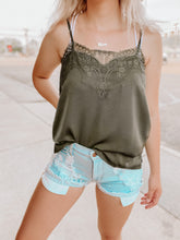 Load image into Gallery viewer, Dallas Lace Tank-The Twisted Chandelier-cami, Dallas, lace, olive-The Twisted Chandelier
