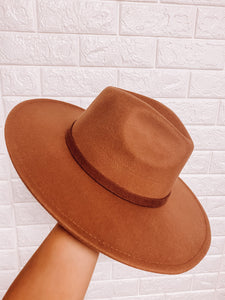 Wide Brim Panama Hat - Dark Khaki-ACCITY-hat, NOV2020, November 2020, November2020, panama-The Twisted Chandelier