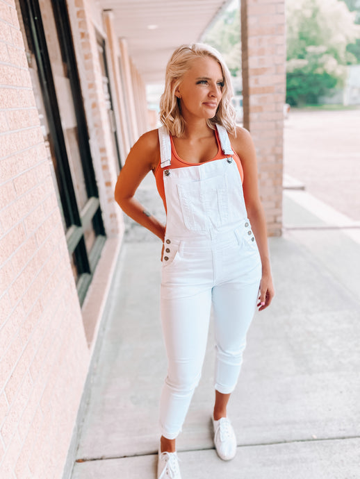 Teenage Dreamin Overalls-The Twisted Chandelier-kancan, overalls, white overalls-The Twisted Chandelier