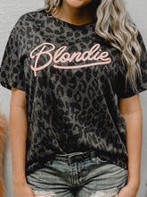 Load image into Gallery viewer, Blondie Charcoal Cheetah T-Shirt