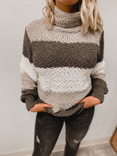 Load image into Gallery viewer, Serena Popcorn Sweater (grey)-Tunic-Zenana-nova turtle neck, november2020, tunic-The Twisted Chandelier