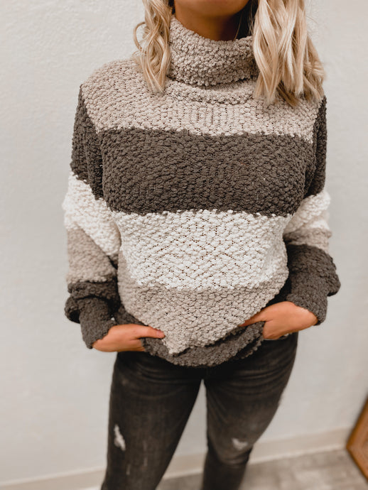 Serena Popcorn Sweater (grey)-Tunic-Zenana-nova turtle neck, november2020, tunic-The Twisted Chandelier