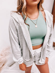 SAILOR BASIC CROPPED TANK (SAGE)-TOPS-Love Tree-cropped tank, march2021, tank-The Twisted Chandelier