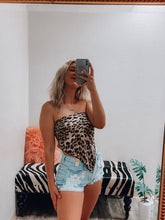 Load image into Gallery viewer, Leopard Crop Top-The Twisted Chandelier--The Twisted Chandelier