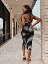 Load image into Gallery viewer, Mallie Striped Dress-The Twisted Chandelier-crossstrap, maxi, striped-The Twisted Chandelier