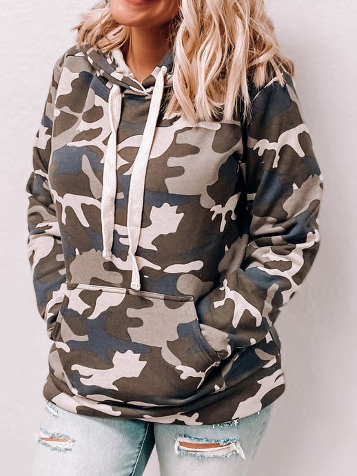 Amelia Camouflage Pullover Hoodie-Tunic-Zenana-nova turtle neck, november2020, tunic-The Twisted Chandelier