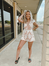 Load image into Gallery viewer, Sunset Nights Romper-The Twisted Chandelier-floral, lace, romper, ruffle, sunset nights-The Twisted Chandelier