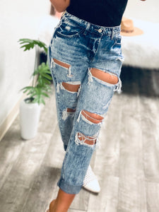 Addison- Kan Can Boyfriend Distressed Jeans-The Twisted Chandelier--The Twisted Chandelier