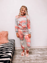 "Load image into Gallery viewer, ""Let's Get Cozy"" Tie Dye Sweatpants-The Twisted Chandelier--The Twisted Chandelier"