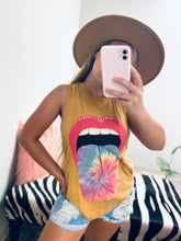 Load image into Gallery viewer, Tie Dye Lips Tank-The Twisted Chandelier-babe tee, cheetah tee, crop tee-The Twisted Chandelier
