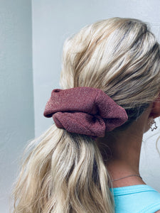 Glitter Mauve Scrunchie-The Twisted Chandelier--The Twisted Chandelier