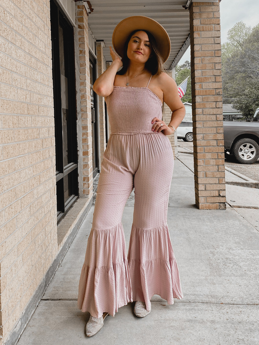 Emery Ruffle Jumpsuit-The Twisted Chandelier--The Twisted Chandelier