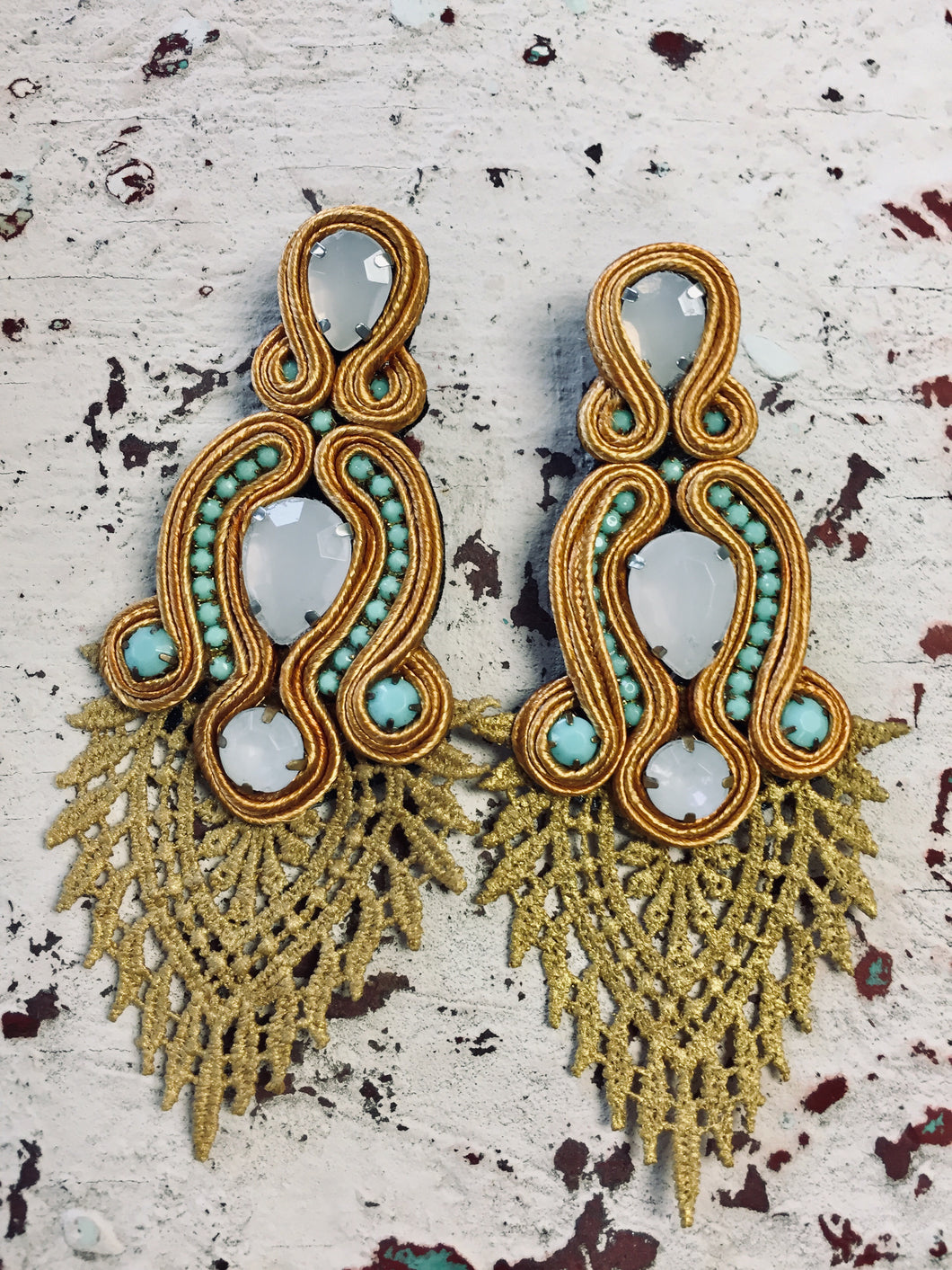 Paisley Tassel Earrings-The Twisted Chandelier--The Twisted Chandelier