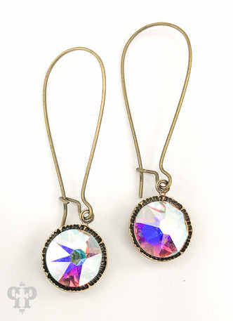 Crystal Drop- E415BAB Pink Panache Earrings-The Twisted Chandelier--The Twisted Chandelier