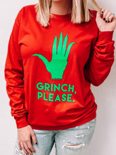 "Load image into Gallery viewer, ""Grinch Please"" Long Sleeved Shirt-T-Shirt-Oliver & Otis-grinch shirt, November2020-The Twisted Chandelier"