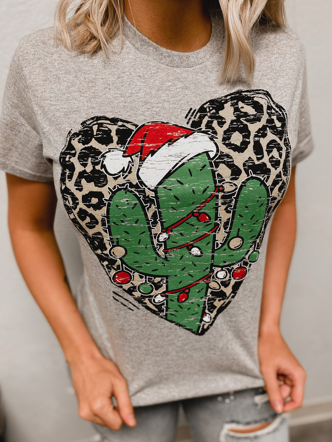 Leopard Cactus T-Shirt-T-Shirt-Davenport-Christmas tee, november2020, t-shirt-The Twisted Chandelier