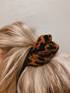 Burnt Orange Leopard Scrunchie-The Twisted Chandelier--The Twisted Chandelier