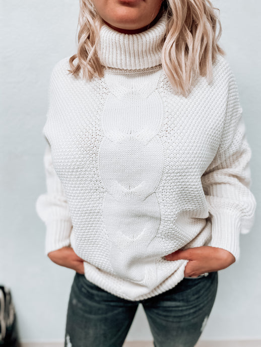 Delilah Turtleneck Knitted Sweater (cream)-Tunic-Zenana-nova turtle neck, november2020, tunic-The Twisted Chandelier
