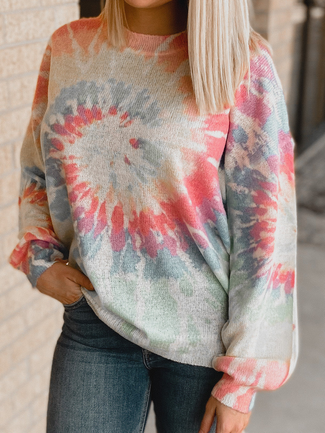Paisley Tie Dye Sweater-The Twisted Chandelier-sweater-The Twisted Chandelier
