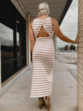 Load image into Gallery viewer, Lauren Striped Dress-The Twisted Chandelier--The Twisted Chandelier
